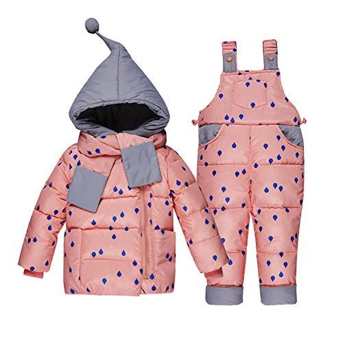 Winter Für Jungen Mantel Mädchen Skianzug Kinder Kleidung Set Baby Ente Daunenjacke + Hosen Overalls Warme Kinder Kleidung Schneeanzug 0-3 Jahre Alt,A,100Cm
