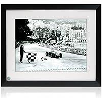 Stirling Moss signiert und gerahmt Formula One Photo: Grand Prix von Monaco