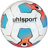 uhlsport Kinder Fußball Tri Concept 2.0 290 Ultra Lite Weiß/Fluo Rot/Eisblau, 5
