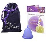 Me Luna Menstruationstasse Sport, Kugel, Blau-Violett, Größe Shorty M