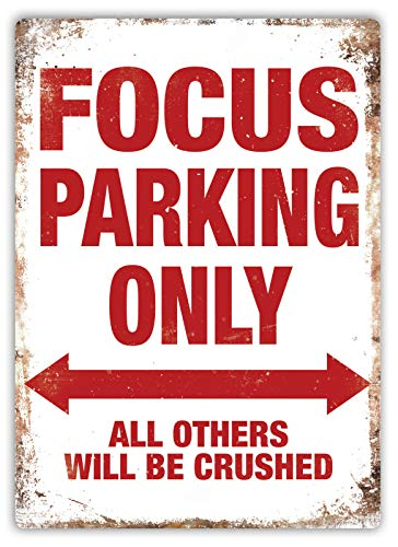 C-US-lmf379581 Focus Parking Only Metallschild Art Ford St Rs Rally