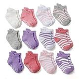 Z-Chen 12er Pack Baby Kleinkinder ABS Antirutsch Socken, Mädchen, 1-3 Jahre