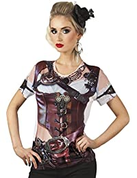 Boland Damen Photo Realistic Steampunk Korsett T-Shirt-Medium