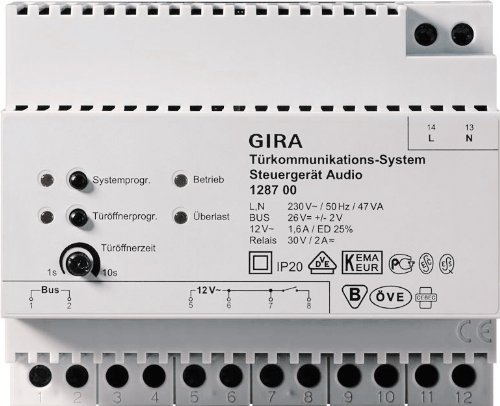 Preisvergleich Produktbild Gira 128700 Steuergerät Audio REG