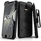 #3: Motorola Moto Z Case, Zizo [Bolt Series] with FREE [Moto Z Screen Protector] Kickstand [Military Grade Drop Tested] Holster Belt Clip- Motorola Moto Z
