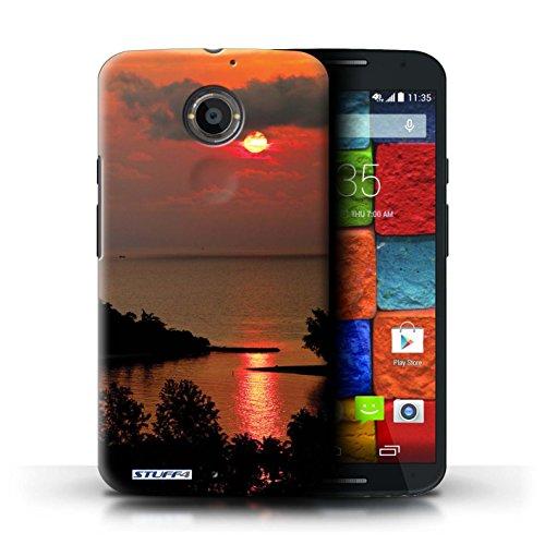 Kobalt® Imprimé Etui / Coque pour Motorola Moto X (2014) / mer conception / Série Coucher du Soleil Le soleil rouge