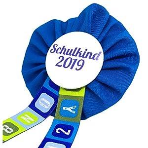 AnneSvea Orden Schulkind 2021 blau Einschulung Schultüte Zuckertüte Deko Geschenk Mitbringsel Anstecker
