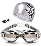 Schwimmbrille Verspiegelt bequeme kein austritt Antibeschlag Taucherbrille für Erwachsene Kinder Herren Dame Unisex
