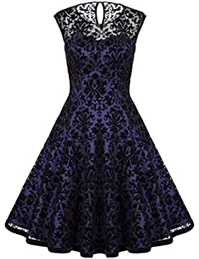 f51b2d6aa5d2 Belle Poque Abiti vintage in pizzo da cocktail anni 50 rockabilly BP278