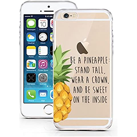 iPhone Cover di licaso® per il Apple iPhone 5 5S & SE di TPU Silicone Be a Pineapple Modello molto sottile protegge il tuo iPhone 5 5S & SE con stile Cover e Bumper