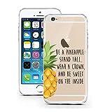 iPhone 5 5S SE Hülle von licaso® für das Apple iPhone 5 & 5S aus TPU Silikon Be a Pineapple Prinzessin Krone Muster ultra-dünn schützt Dein iPhone SE & ist stylisch Schutzhülle Bumper in einem (iPhone 5 5S SE, Be a pineapple)
