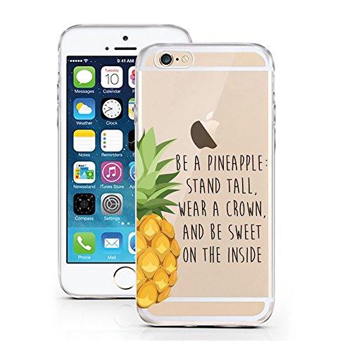 iPhone 6S Hülle von licaso® für das Apple iPhone 6 & 6S aus TPU Silikon Apple Juice Apfel-Saft Muster ultra-dünn schützt Dein iPhone & ist stylisch Schutzhülle Bumper Geschenk (iPhone 6 6S, Apple Juic Be a pineapple