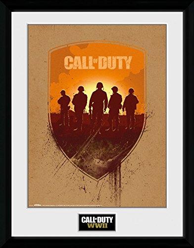 Preisvergleich Produktbild 1art1 108382 Call Of Duty - WWII Shield Gerahmtes Poster Für Fans Und Sammler 40 x 30 cm