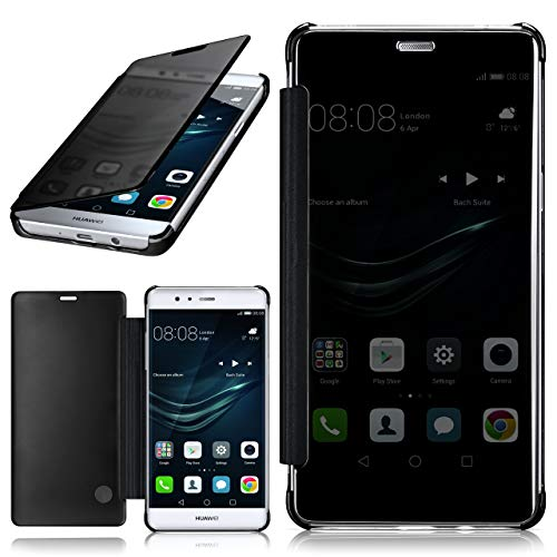 moex Huawei P9 Lite | Hülle Transparent TPU Void Cover Dünne Schutzhülle Anthrazit Handyhülle für Huawei P9 Lite / G9 / G9 Lite Case Ultra-Slim Handy-Tasche mit Sicht-Fenster