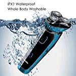 Electric Shaver Wet And Dry Waterproof For Men Electric Razor Cordless Mens 3D Rotary Shavers Rechargeable Beard Trimmer With Pop Up Trimmer Travel Lock LCD Indicator