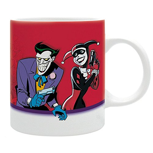 Woman Wonder Kostüm Batman Superman - DC Comics - Batman - Keramik Tasse - The Animated Series - Harley Quinn & Joker - Mad Love - Geschenkbox