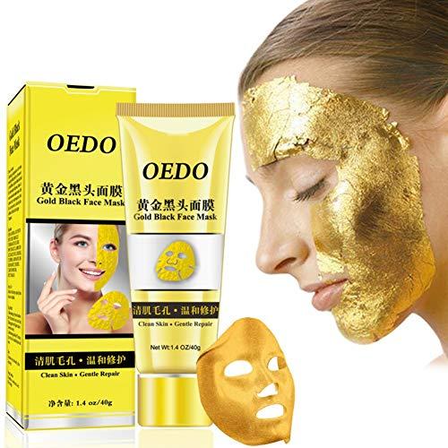 Allbesta Gold Maske Blackhead Peel Off Gesichtsmaske Mitesser Mitesserentferner Anti-Aging Facial...