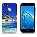 DIKAS Huawei Enjoy 7 Cover, Huawei Y6 PRO (2017) Custodia, [Spiaggia di Boulder] 3D Rilievo UltraSlim TPU Skin Cover Protettiva Shell Custodia per Huawei Y6 PRO (2017) / Huawei Enjoy 7- PIC: 13