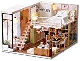 #4: Webby Wooden DIY Elegant Miniature Doll House with Lights, Multicolor