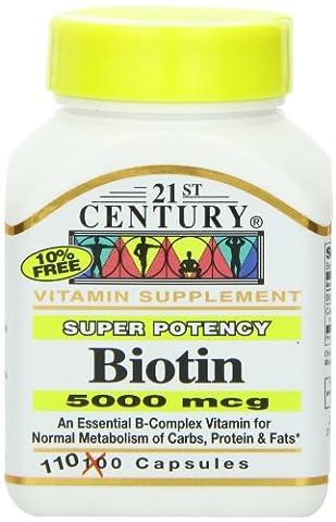 Biotin, 5000 mcg, 110 Capsules