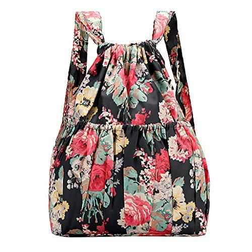 DOFENG Damen Ethnischer Stil Drucken Wasserdicht Nylon Daypack Rucksack Schultaschen Tagesrucksack Handtaschen Umhängetasche Reiserucksack für Schule Reise Arbeit (I1, Eine Größe)