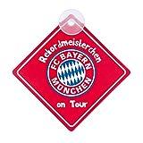 FC Bayern München Schild, Auto-Schild Rekordmeisterchen on Tour FCB - Plus gratis Lesezeichen I Love München
