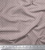 Soimoi Schwarz Baumwoll-Popeline Stoff Polka dots Stoff