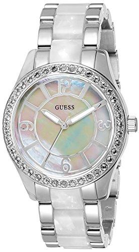 W0074L1 Guess Women's Watch Analogue Quartz Silver Dial Silver Steel Strap