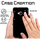 HTC One M7 Back Cover, Case Creation TM Hard Back Case Cover For HTC One M7/HTC One (M7) 801N 801E 4.7 Inch - Pitch Black