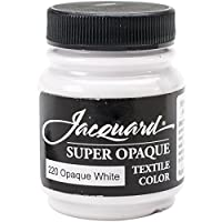 Jacquard Products Supr White-Textile Color Paint, Acrylic, Multicolour, 4.44x4.44x6.35 cm