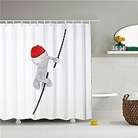 Snowman Shower Curtain Cortinas de ducha africanas de Navidad con diseño de muñeco de nieve, resistentes al moho, impermeables y antibacterianas, 72 x 72 cm