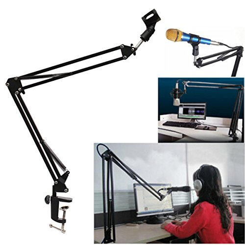 Afirst Microphone Suspension Boom Scissor Arm Stand Holder For Broadcast
