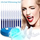 Professional Teeth Whitening Kit, Zahnaufhellungsgel, Home Teeth Whitening Kit, Effektiv Zahnaufhellung zu gelben Zähnen und Rauchflecken Schwarze Zähne, 10x Zahnaufhellung 2x Zahnschalen Gel