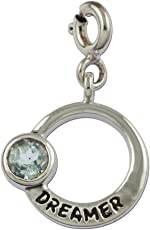 fourseven Dreamer Pisces Zodiac Charm with Aquamarine for Men & Women