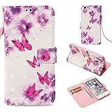 Anfire Coque iPhone 6 Plus/6S Plus Étui Housse en Cuir PU Flip Case Cover 3D Peint...