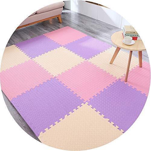JIAJUAN-Puzzlematte Baby Quadrat Ineinandergreifend Schaumstoffmatten Kinder Puzzle Fußboden Fliesen Matte Spielmatten-Set Übung Krabbeln Mat (Color : B, Size : 60x60x1.2cm-10 Piece) (8 Quadrat Fliese 8 X)