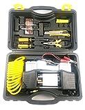 CUKKE 12V 150W 50L/min 2-Zylinder Auto-Kompressor Tragbare Vielzweckgerät Metall Auto Luftpumpe Autoreifen Inflator Pumpe Elektroauto Werkzeugsatz