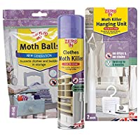 STV International Zero in Clothes Moth Attack Pack-for Wardrobes and Drawers, Multi-Colour, 18x7x0.37 cm
