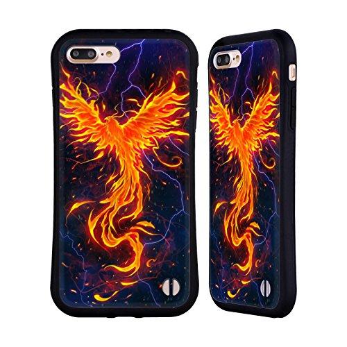 Ufficiale Christos Karapanos Rinascita Phoenix 3 Case Ibrida per Apple iPhone 6 Plus / 6s Plus Rabbia