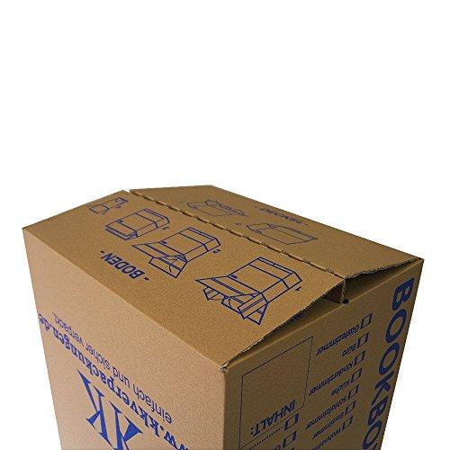 5 Bücherkartons 2 wellig in Profi Qualität Bookbox - 3