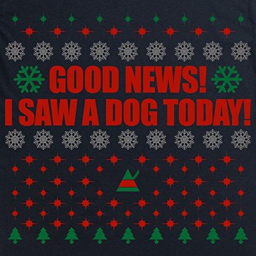 Inspired By Elf - I saw A Dog T-Shirt, Herren Schwarz