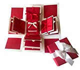 #5: Crack of Dawn Crafts 3 Layered Romantic Explosion Box - Red Love
