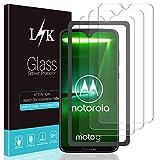 L K 3 Pièces Protection Écran pour Motorola G7/ Moto G7/ Motorola G7 Plus/Moto G7 Plus, [Anti-Rayures] [Kit d'installation Offert] [Garantie de Remplacement à Vie] Verre Trempé Film Protection