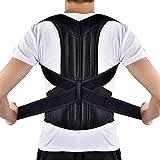 """Grsafety Corrige la postura de la espalda, mejora la relajación, mejora el dolor de espalda y la cifosis torácica.- Tamaño XL (Cintura 39.3""""-45.2"""")"""