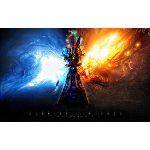 World of Warcraft – Feuer & Eis Seide-Poster
