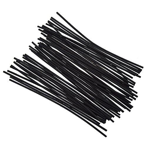 YNuth 90-100pcs Batonnets En Rotin Couleur Noir Reed Diffuseur Fagot