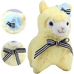 """KOSBON 7.3""""bufanda gorro de y Alpaca, 100% de peluche Animales de peluche muñeca juguetes, mejores regalos de cumpleaños para los niños Niños"""