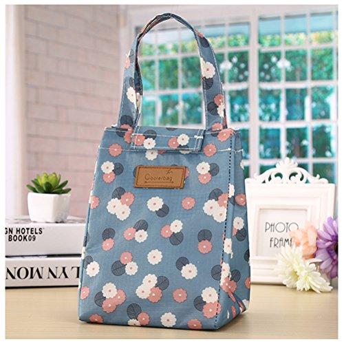 Umily pranzo borsa termico isolata totalizzatore portatile picnic borsa stoccaggio lunchbox-blu