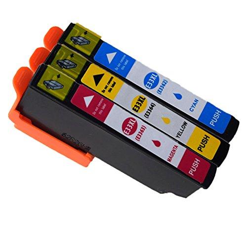 ouguan 3x (1cyan/1Magenta/1jaune) Compatibile Epson 3333x l Cartucce d' inchiostro per utilizzo in Epson Expression Premium XP-530XP-630XP-830XP-635xp-640xp-645xp-540xp-900stampante