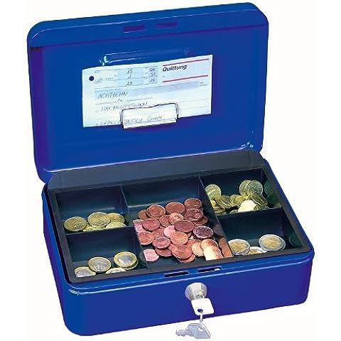 Wedo 145303H Gr. 3 Cassetta Portavalori con Clip, 25.2 x 18.0 x 9.0 cm, Blu